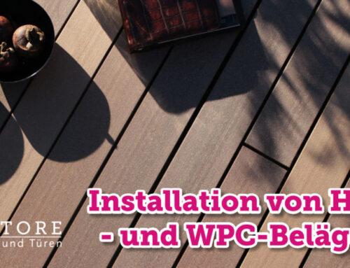 Installation von Holz- und WPC-Belägen